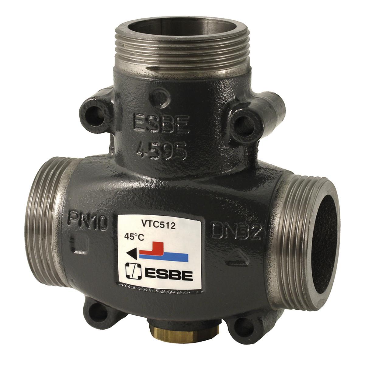 Триходовий термо клапан ESBE VTC 512 DN32 х 50* (G ø1'1/2, kvs 14 м3/г) 510 22 000 (чуг,PN10, 110°)