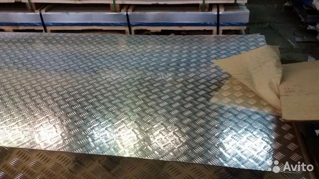 Лист алюминиевый рифлёный квинтет 1х1000х2000 мм марка 1050