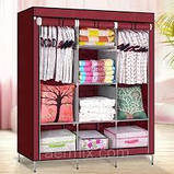 Портативный Тканевый Шкаф Органайзер Storage Wardrobe HCX 68130 3 Секции, фото 3