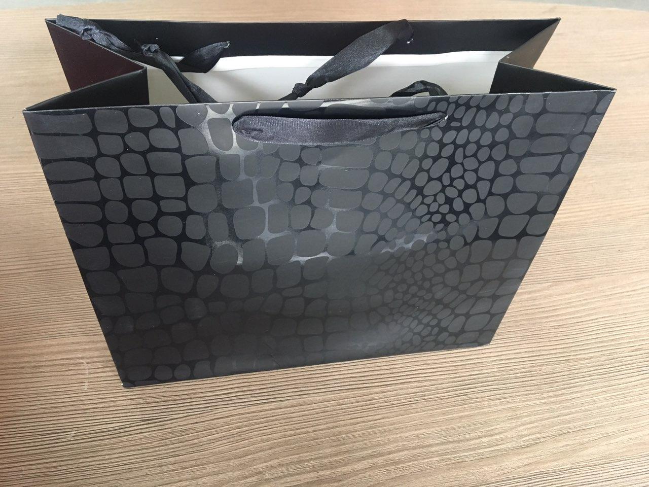 Пакет подарочный Крокодил черный  32x26