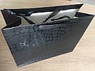 Пакет подарочный Крокодил черный  32x26, фото 2