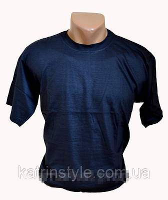 Мужская однотонная футболка на лето
