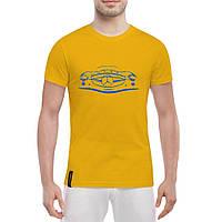 Мужская хлопковая футболка с печатью принта Мercedes, фото 1