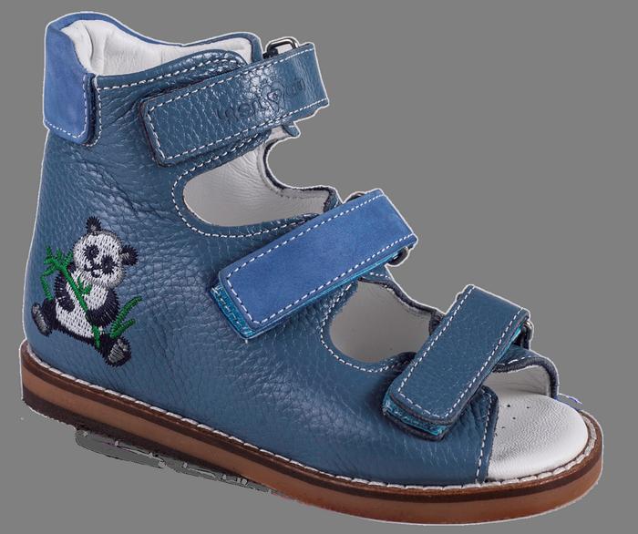 Сандалии ортопедические Антиварус 08-801AV, панда на синем, 21