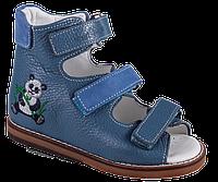 Сандалии ортопедические Антиварус 08-801AV, панда на синем, 21, фото 1