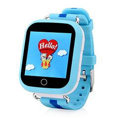 Детские телефон-часы с GPS трекером UWatch Q100-S голубые