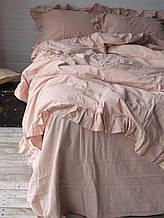 Комплект постельного белья из вареного хлопка  размер евро LIMASSO CAMELLO ROSES EXCLUSIVE