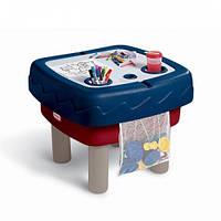 Песочница-стол 2 в 1 - ИГРАЕМ И РИСУЕМ (для песка и воды, с аксессуарами) Little Tikes Outdoor 451T10060
