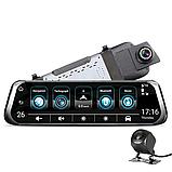 "Видеорегистратор E08 Plus Зеркало 10"" Экран сенсор - 2 камеры ADAS + GPS навигатор + WiFi + Android + 4G LTE, фото 9"