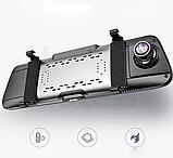 "Видеорегистратор E08 Plus Зеркало 10"" Экран сенсор - 2 камеры ADAS + GPS навигатор + WiFi + Android + 4G LTE, фото 10"