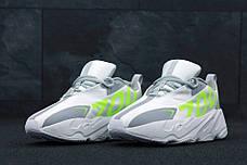 "Мужские кроссовки в стиле Adidas Yeezy 700 ""Numbers"" Grey/Green, фото 3"