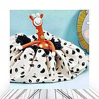 Детский игровой коврик-мешок для игрушек 2в1 Мистер Панда, крафт-пакет в подарок - 143021