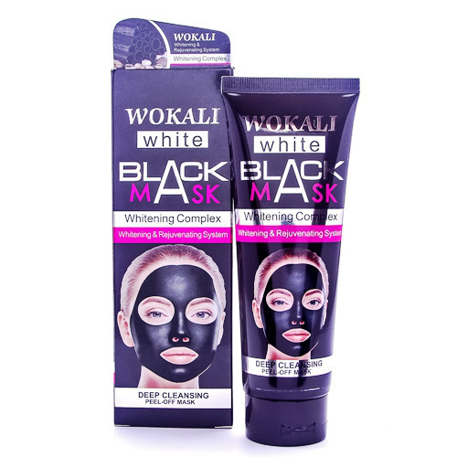 Маска для лица WOKALI Black Mask Whitening Complex 130 мл