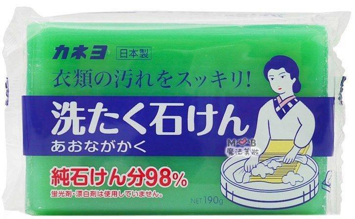 """Мыло хозяйственное для стирки """"98% жирных кислот"""" KANEYO 190 г (260563), фото 2"""