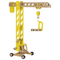 Строительный кран деревянный goki (желтый) 55937G