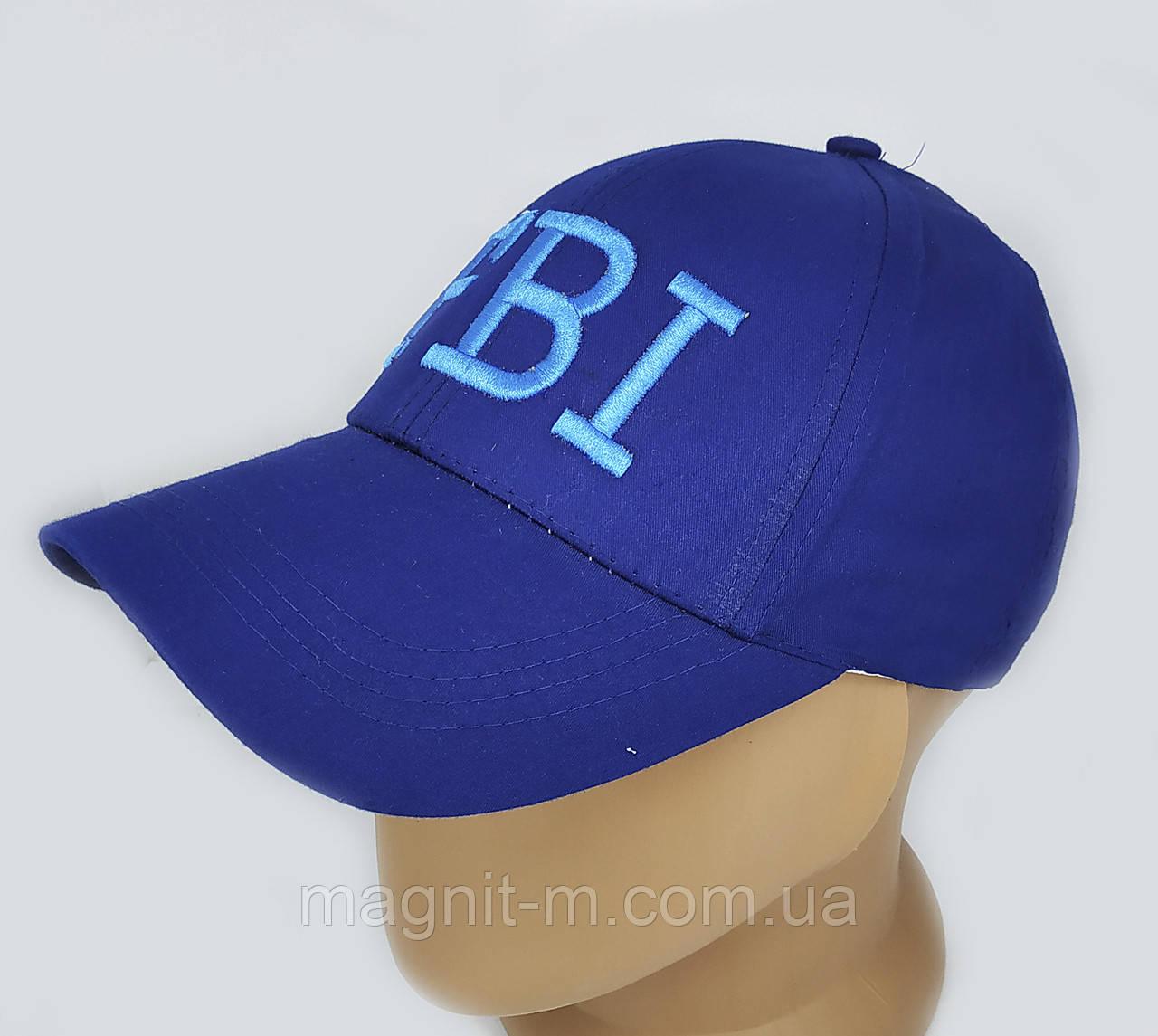 Бейсболка однотонная. FBI. Синий. Подросток 12-16 лет