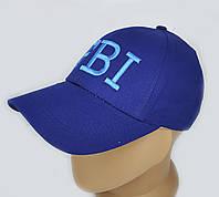 Бейсболка однотонная. FBI. Синий. Подросток 12-16 лет, фото 1