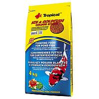 Tropical KOI and GoldFish Color Sticks основной окрашивающий корм для прудовых рыб 50л