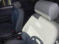 Чехлы в салон Ауди 80 - Чехлы для сидений Audi 80 1986-1995 Оригинальные Premium (с горбами и подлокотником), задняя спинка цельная