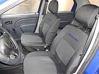 Чехлы в салон Дача Логан - Чехлы для сидений Dacia Logan 2013 - (цельный) Оригинальные Premium