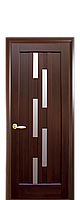 Дверное полотно Лаура Каштан со стеклом сатин