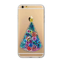 Накладка для iPhone 6/6s силікон 0,3mm Infinity Slim Glamour Ялинка, фото 1