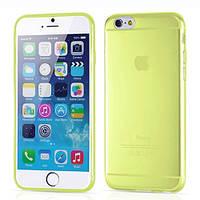 Накладка для iPhone 6/6s силікон 0,3mm Infinity Slim Прозорий/Жовтий, фото 1