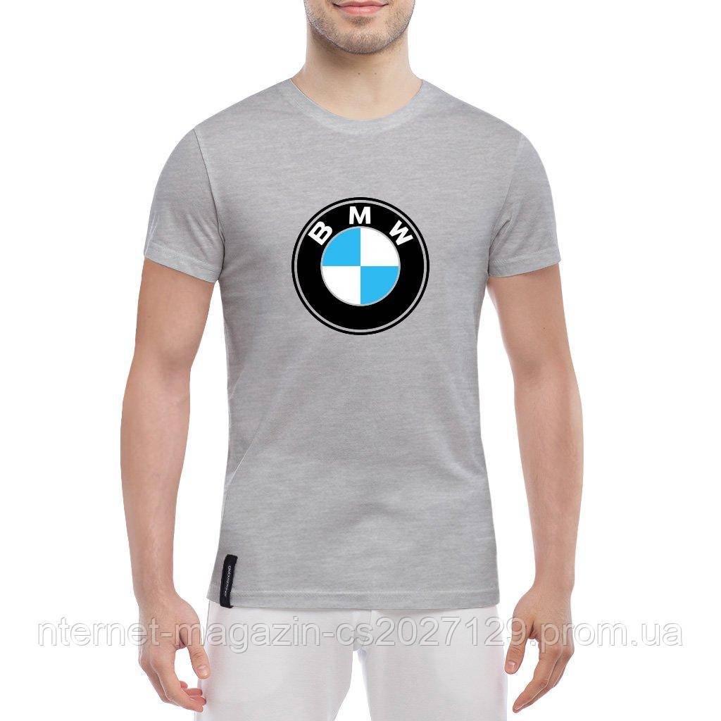 Футболка с печатью принта BMW