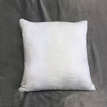 Подушка квадрат 35см. плюшева PREMIUM для сублімації від виробника Україна