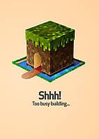 Картина GeekLand Minecraft Майнкрафт минимализм 40х60см MC.09.004