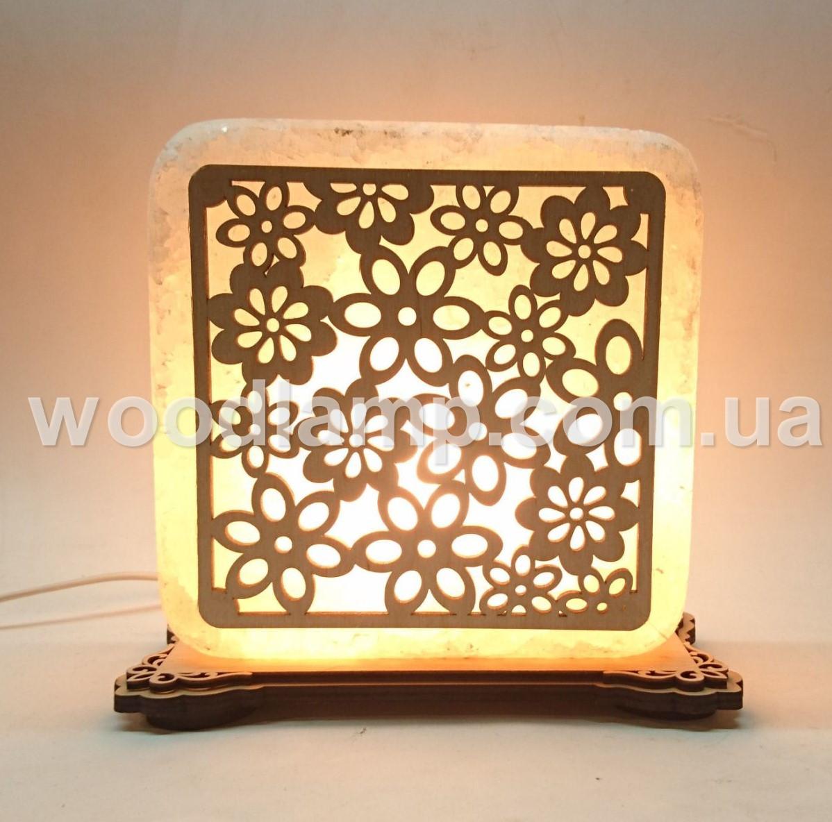 Соляной светильник квадратный Васильки