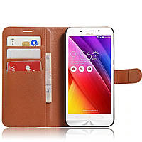 Чехол-книжка Litchie Wallet для Asus Zenfone Max ZC550KL Коричневый