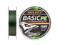 Шнур Select Basic PE 150m (темн-зел.) 0.18mm 22lb/9.9kg