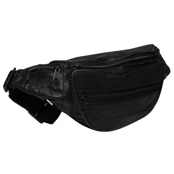 Шкіряна барсетка на пояс вир. Польща New 2020! 103 Black