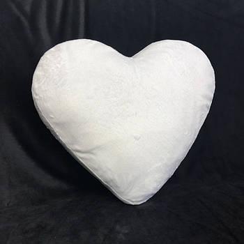Подушка серце плюшева PREMIUM для сублімації від виробника Україна