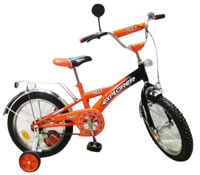 """Велосипед EXPLORER 14"""" T-21415 оранжево-черный)"""