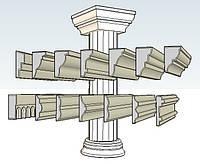 Фасадный декор в Черкассах,фигурная резка пенопласта.