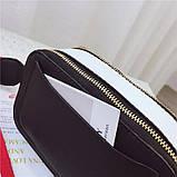 Сумка жіноча Camera Bag з текстильним ремінцем в стилі Marc Jacobs (біла), фото 6