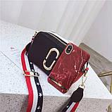 Сумка жіноча Camera Bag з текстильним ремінцем в стилі Marc Jacobs (біла), фото 8