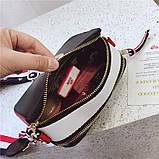 Сумка женская Camera Bag с текстильным ремешком в стиле Marc Jacobs (белая), фото 9