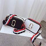 Сумка жіноча Camera Bag з текстильним ремінцем в стилі Marc Jacobs (біла), фото 5