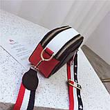 Сумка жіноча Camera Bag з текстильним ремінцем в стилі Marc Jacobs (біла), фото 7