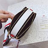 Сумка жіноча Camera Bag з текстильним ремінцем в стилі Marc Jacobs (біла), фото 10