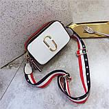 Сумка жіноча Camera Bag з текстильним ремінцем в стилі Marc Jacobs (біла), фото 2