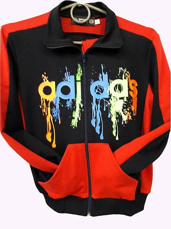 Костюм спортивный подростковый для мальчиков в стиле Adidas трикотажный Красный, фото 2