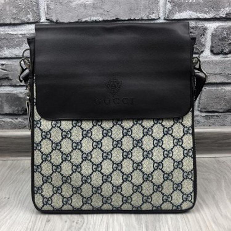 b0b08902d667 Брендовая женская сумка планшетка Gucci коричневая экокожа через плечо  унисекс качество Гуччи люкс реплика