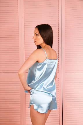 Комплект пижама атлас, фото 2