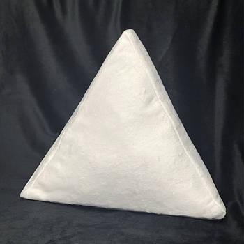 Подушка трикутник плюшева PREMIUM для сублімації від виробника