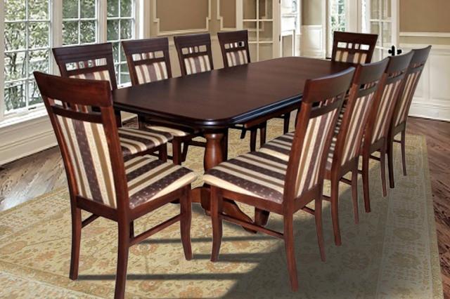 Стол обеденный раскладной Престиж орех Fusion Furniture