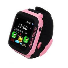 Умные часы K3 UWatch с GPS черно-розовые